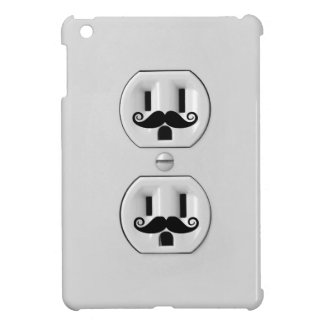 Funny Wall Outlet with mustache iPad Mini Covers