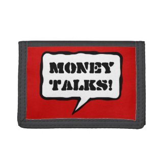 Funny wallet with quote | Money talks!