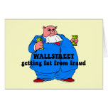 Funny wallstreet greeting card