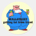 Funny wallstreet round sticker