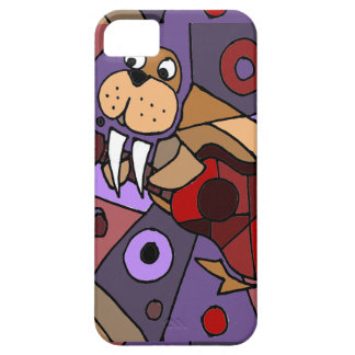 Funny Walrus Playing Guitar Abstract iPhone SE/5/5s Case
