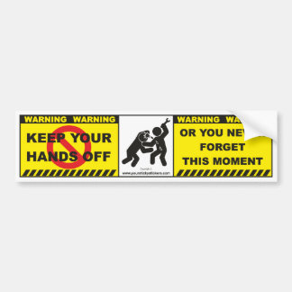 Funny Warning Bumper Sticker Decal Label A12