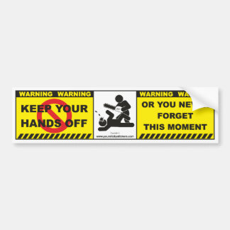 Funny Warning Bumper Sticker Decal Label A15