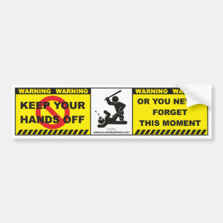 Funny Warning Bumper Sticker Decal Label A7