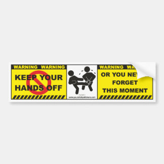 Funny Warning Bumper Sticker Decal Lable A1