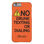 Funny Warning Custom Name & Color phone cases Barely There iPhone 6 Case