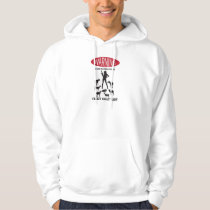 FUNNY Warning Farm Patrolled by Crazy Goat LAdy Hoodie