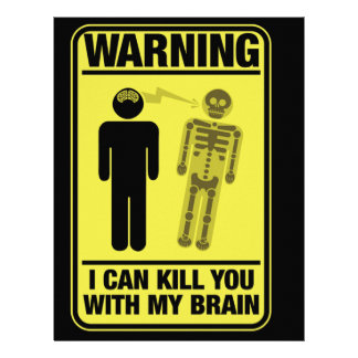 Funny Warning Kill With My Brain Customized Letterhead