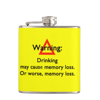 Funny Warning Quote Flask