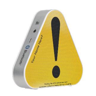 Funny Warning Sign Bluetooth Speaker