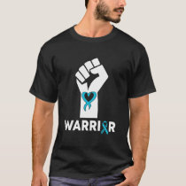 Funny Warriors Fist Ribbon Quote Awareness Gifts T-Shirt