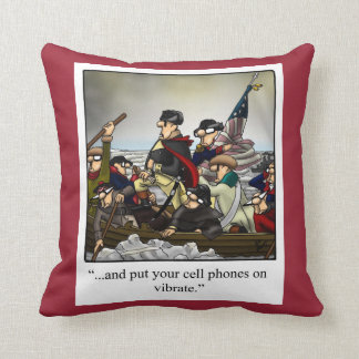 "Funny ""Washington Crossing Delaware"" Pillow"