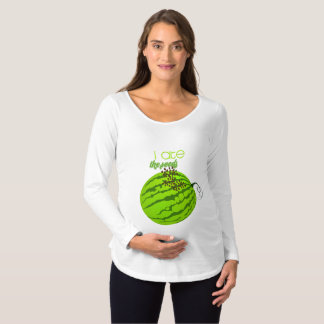 Funny Watermelon - I Ate the Seeds Maternity T-Shirt