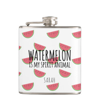 Funny Watermelon is my spirit animal flask