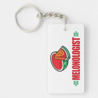 Funny Watermelon Single-Sided Rectangular Acrylic Keychain