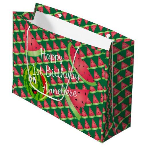 Funny Watermelon Kid's Birthday Large Gift Bag