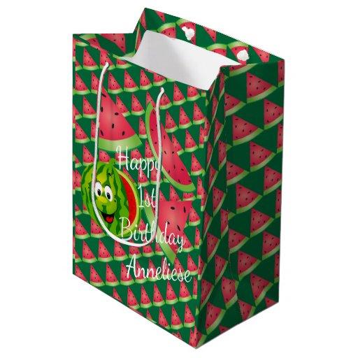 Funny Watermelon Kid's Birthday Medium Gift Bag