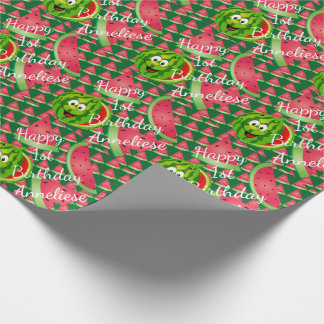 Funny Watermelon Kid's Birthday Theme Wrapping Paper