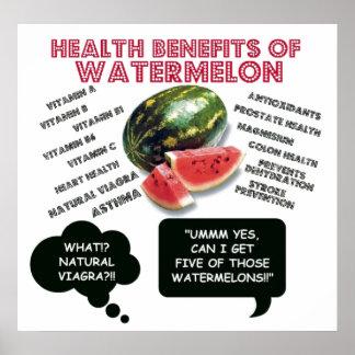 Funny Watermelon Man Viagra Joke Poster