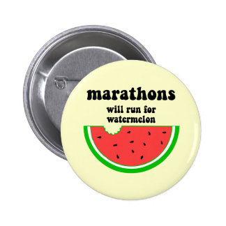 Funny watermelon marathon buttons