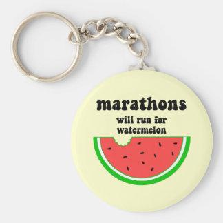 Funny watermelon marathon keychain
