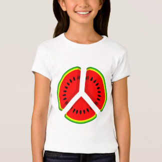Funny Watermelon Peace Bright Colours T-Shirt
