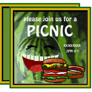Funny Watermelon  Picnic Invitation