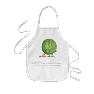 Funny Watermelon Pooping Cartoon Aprons
