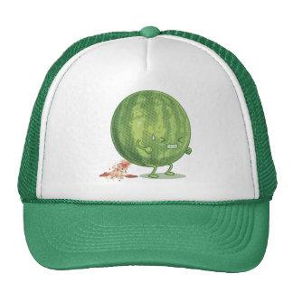 Funny Watermelon Pooping Cartoon Trucker Hat