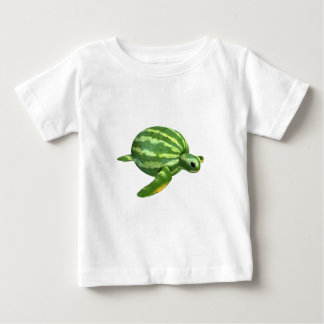 Funny Watermelon Seaturtle Baby T-Shirt