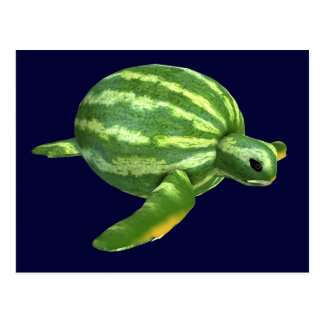 Funny Watermelon Seaturtle Postcard