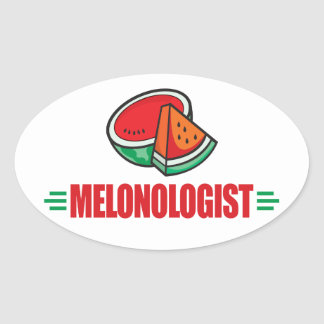 Funny Watermelon Oval Stickers