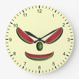 Funny Watermelons Face Large Clock