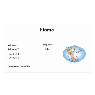 funny waterpolo dude cartoon Double-Sided standard business cards (Pack of 100)