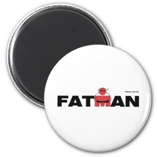 Funny way of an ironman. 2 inch round magnet
