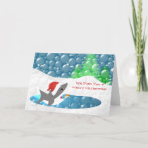 Funny - We Fish You a Merry Shark Christmas Holiday Card