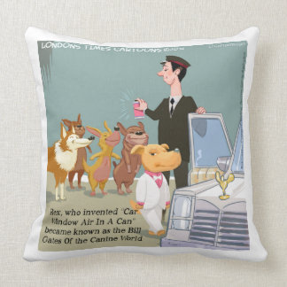Funny Wealthy Dog Cotton Large Throw Pillow