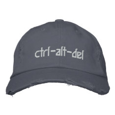 Funny Wear a Geeky CTRL-ALT-DEL Hat at Zazzle