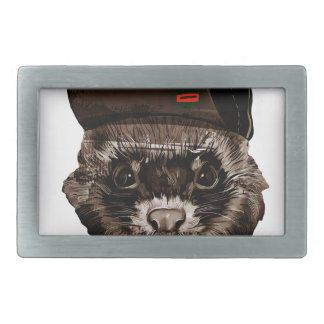 Funny Weasel with Hat Belt Buckle