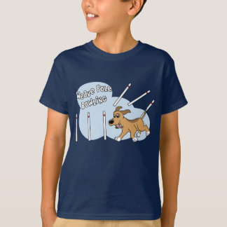 Funny Weave Poles Dog Agility Child's T-Shirt