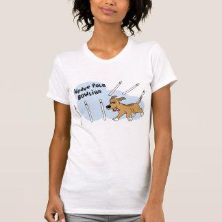 Funny Weave Poles Dog Agility Ladies T-Shirt
