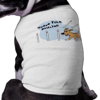 Funny Weave Poles Dog Agility Shirt