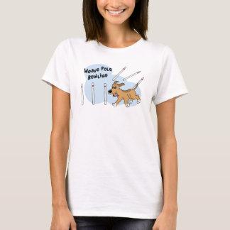 Funny Weave Poles Dog Agility T Shirt