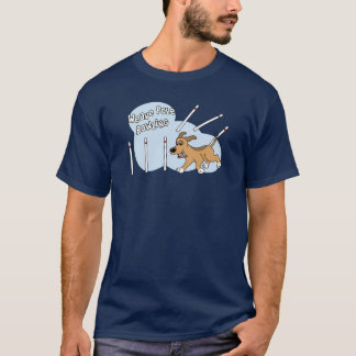 Funny Weave Poles Dog Agility T-Shirt