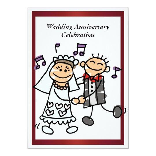 Humor Wedding Invitations: Funny Wedding Anniversary Invitation