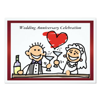 Funny Wedding Anniversary Invitation