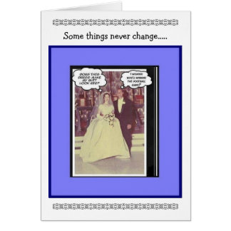 Funny Wedding Anniversary - Vintage Card