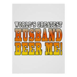 Funny Wedding Anniversary Worlds Greatest Husband Poster
