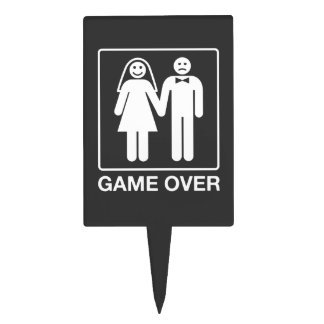 Funny Wedding Cake Topper for Groom | Game Over