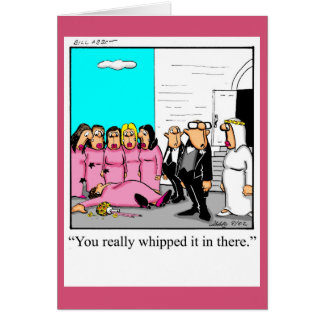 Funny Wedding Congratulation Greeting Card